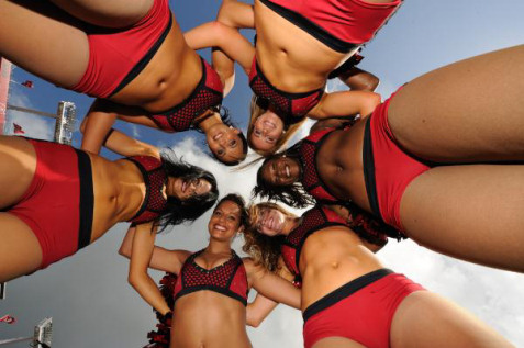Cheerleader upskirt camel toe