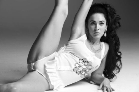 Megan Fox stretch